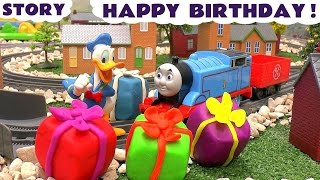 Birthday Play Doh Presents for Disney Donald Duck | Thomas The Tank Engine collects | Cars and MLP