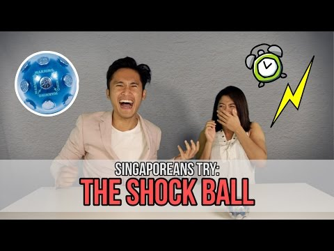 Singaporeans Try: The Shock Ball Challenge (feat. MunahHirziOfficial)