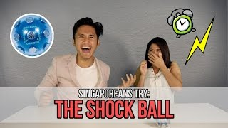 Singaporeans Try: The Shock Ball Challenge (feat. MunahHirziOfficial) | EP 57