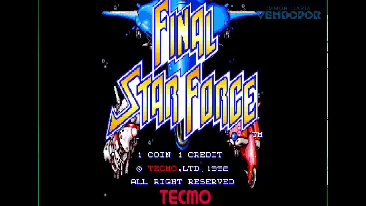 Final Star Force 1992 Tecmo Games Jugando Juegos Arcades Coinop