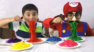Guka Johny Johny Yes Papa Playing with Colorful Noodles