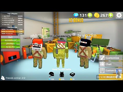 URB: Last Pixels Battle Royale | Team 3 Mode | Play With 3 Brothers