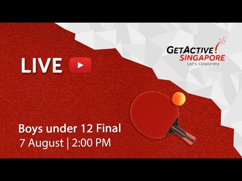 Table Tennis: Boys under 12 Final | Singapore National Games 2016