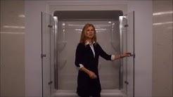 Trackless Frameless bi-fold tub/shower doors