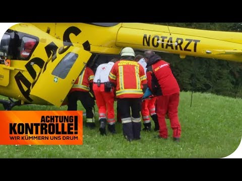 Schwerer Verkehrsunfall! Luftrettung mit Rettungshubschrauber   Achtung Kontrolle   kabel eins