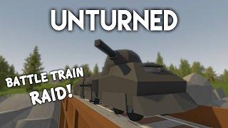 Unturned | Battletrain Raid! (Roleplay Survival)