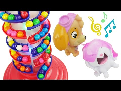 Best Learning Colors Video for Children Candy Surprise Duck Slime Paw Patrol Gumball Tayo Garage