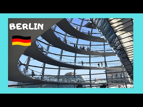 BERLIN, EXPLORING Interior Of Spectacular REICHSTAG DOME (Germany)