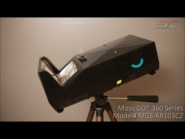 MosicGO® 360 All Season Outdoor Indoor UST Projector/EDGE FREE® Fixed Frame Screens CLR 2