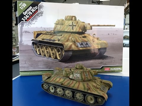 Building the Academy 1/35 German T34 -76 including painting and weathering.