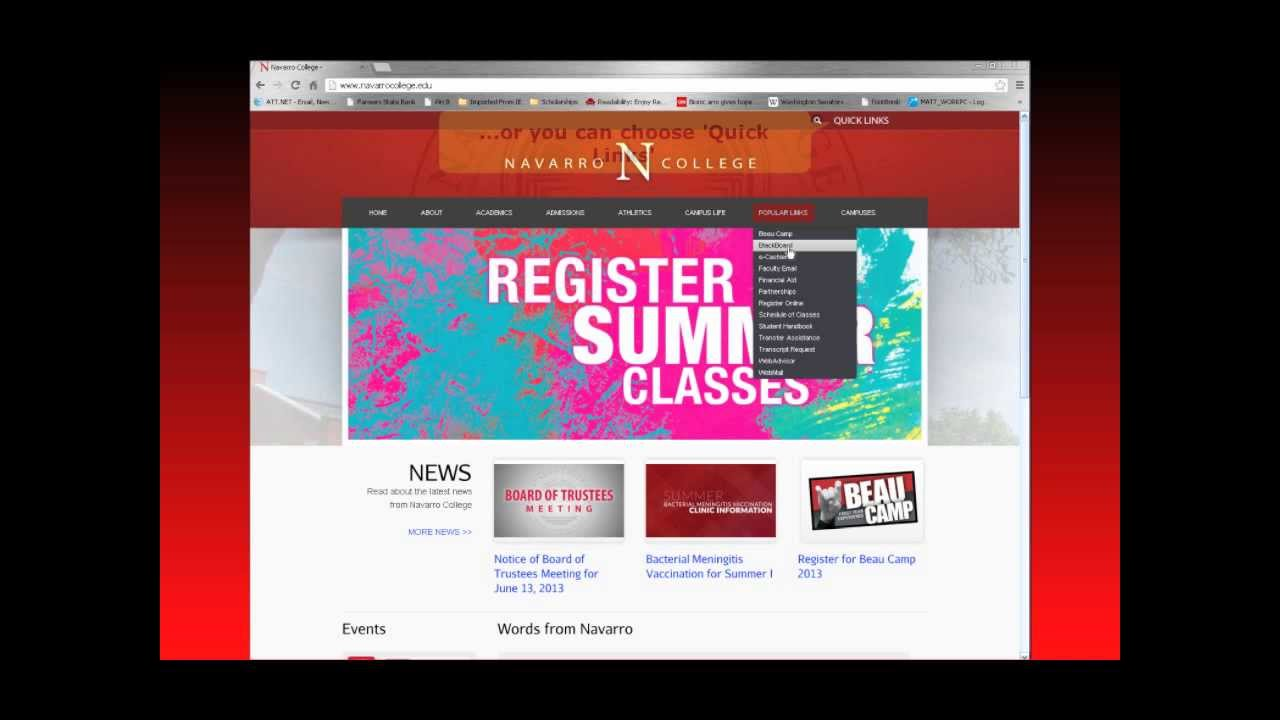 Navarro college blackboard learn