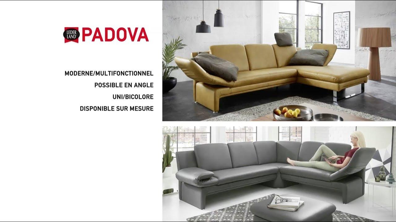 Canapé En Cuir Design Modèle Padova De Lederland