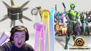Download Video [Overwatch] Unboxing 201 Anniversary Lootboxes + Giveaway MP3 3GP MP4