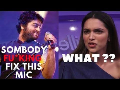 Arijit Singh abusing on stage | Fix this mic remixed