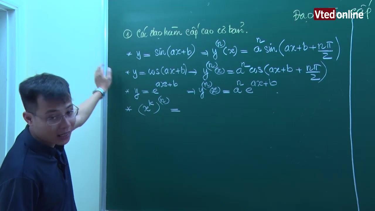 Vted.vn – Đạo hàm cấp cao của hàm số – Thầy: Đặng Thành Nam