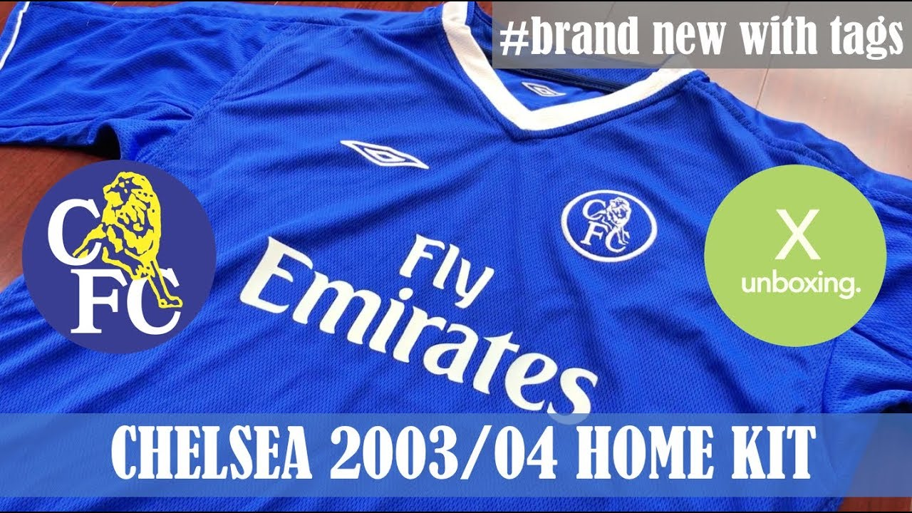 brand new a500a 4ec3f [X UNBOXING] Chelsea FC 2003/04 Umbro Home Kit / Fly Emirates / Football  Shirts / Football Jerseys