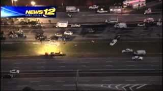 Breaking News - 1 dead, 33 injured in Long Island Expressway pileup