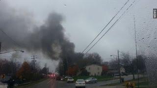 بالفيديو| مقتل 9 في حادث تصادم طائرة أمريكية نفاثة بمبنى سكني في أوهايو