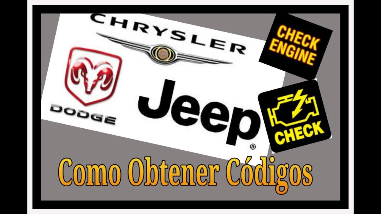 Codigos De Falla Sin Escaner Chrysler Dodge Jeep Youtube