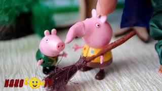 Пеппа Мультфильм Свинка Пеппа превратилась в бабу ягу. Видео для детей. Новые Серии 2017 на Русском