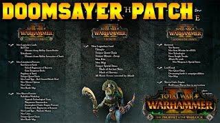 DOOMSAYER PATCH NOTES! Bretonnia Rework, Accusation & VCoast Nerf | Total War: Warhammer 2