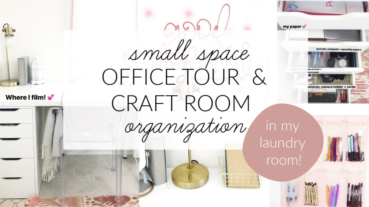 Small E Office Tour Craft Room Organization Ideas How To