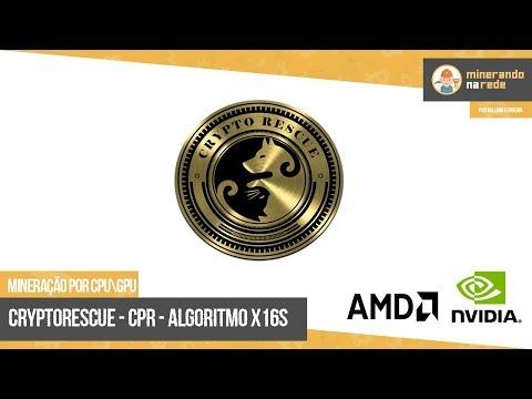 CRYPTORESCUE (CPR) - MINERAÇÃO POR CPU E GPU - ALGORTIMO