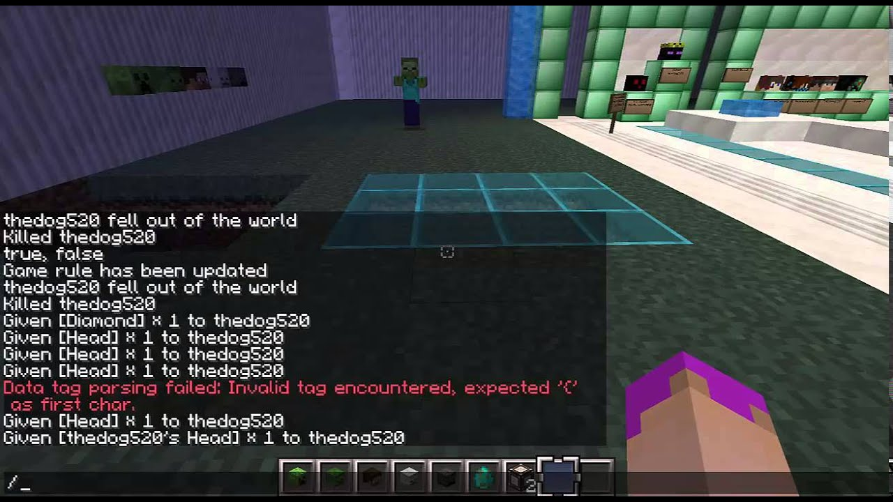 how to get a player head in minecraft 1.8