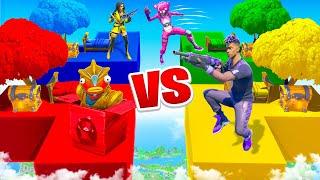 EXTREME 1v1v1v1 Bed Wars Challenge in Fortnite! ft. Typical Gamer