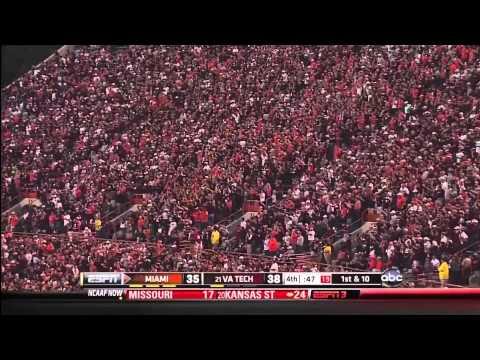 Virginia Tech Hokies vs. Miami Hurricanes : Final 6 Minutes (10-8-2011)