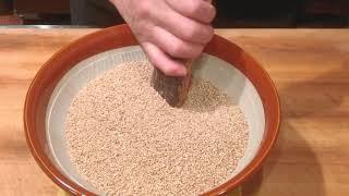 《ゴマ豆腐(胡麻豆腐)の作り方》・・・・大和の 和の料理《胡麻豆腐》