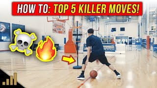 Top 5 DEADLY Basketball Combo Moves To KILL Defenders Off The Dribble!
