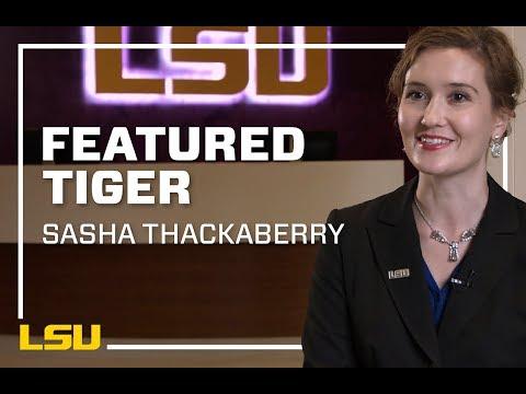 LSU Featured Tiger, Sasha Thackaberry
