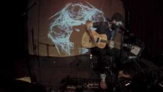 Boss RC-300 Guitar Looping Cosmic Americana by Michael Garfield ft. Live Visuals by Topher Sipes