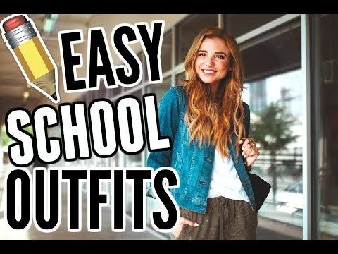 OUTFITS FOR SCHOOL | Quick & Easy College Outfit Ideas 2017