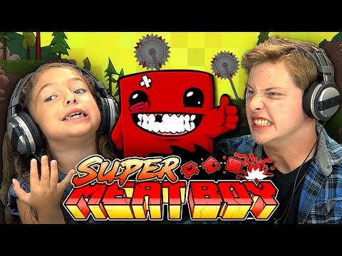 KIDS PLAY SUPER MEAT BOY (Kids React: Gaming)