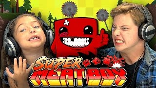 KIDS PLAY SUPER MEAT BOY (Kids React: Gaming) thumbnail