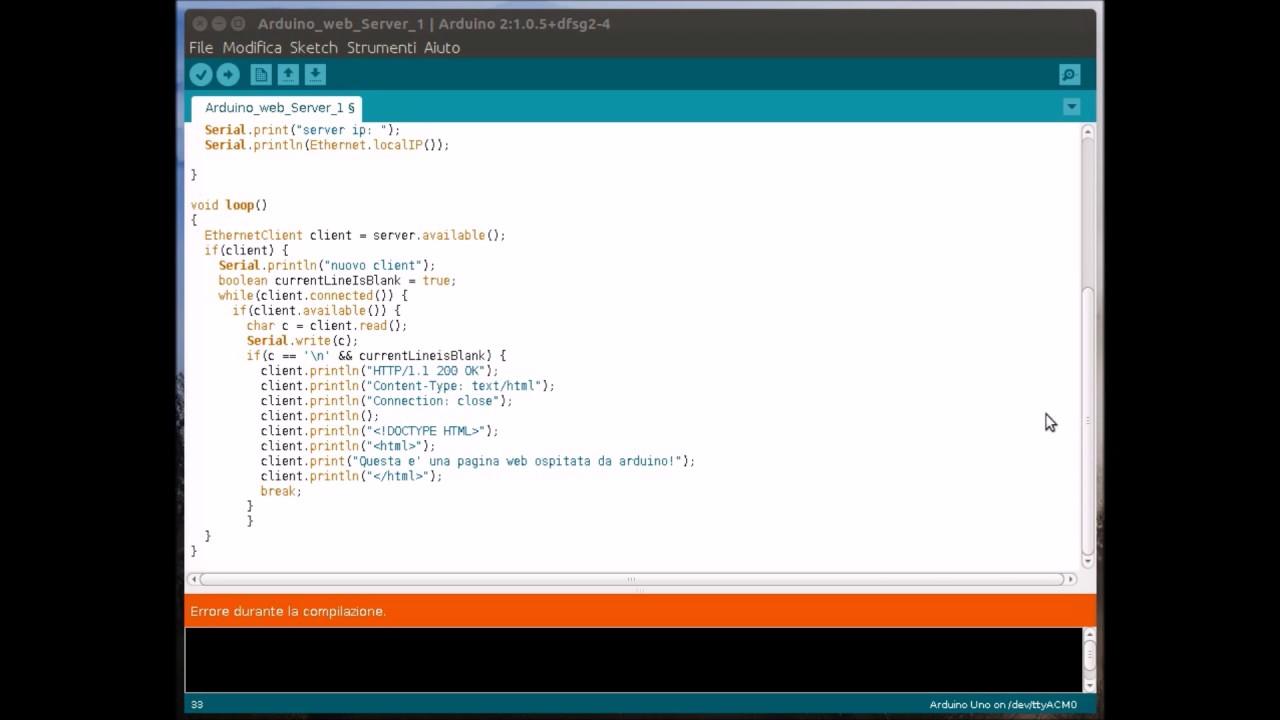 Tutorial Arduino - Programmare un web server - YouTube