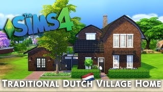 Sims 4 Speed Build   Traditional Dutch Village Home