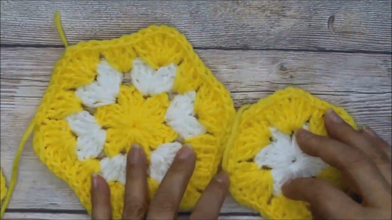 Como Tejer un Hexagono en crochet - YouTube