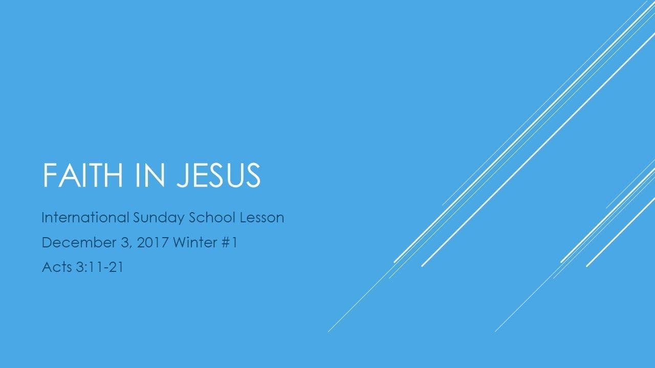 Sunday School Dec 3 2017 Youtube