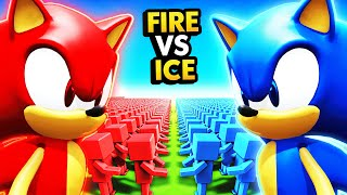 FIRE SONIC ARMY vs ICE SONIC ARMY