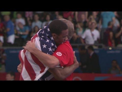 Burroughs Wins Mens Wrestling Freestyle 74kg Gold - London 2012 Olympics