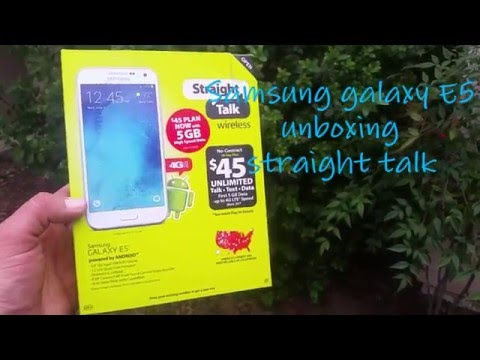 Samsung Galaxy E5 straight talk unboxing