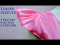 Flared sleeve pattern for top, blouse, Kurti. Easy tutorial ENGLISH SUBTITLE
