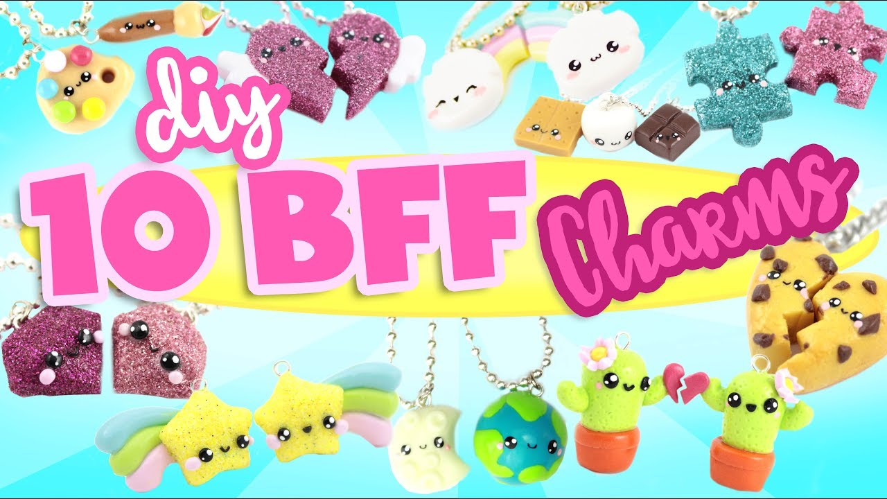 10 cute bff diy s polymer clay compilation 2 youtube