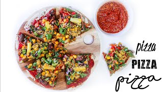 THE BEST GLUTEN FREE HCLF VEGAN PIZZA EVER
