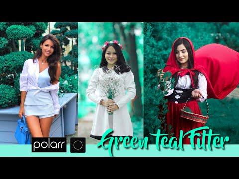 Cara Edit Foto Pakai Hp || Green Teal Tone || Tutorial Polarr