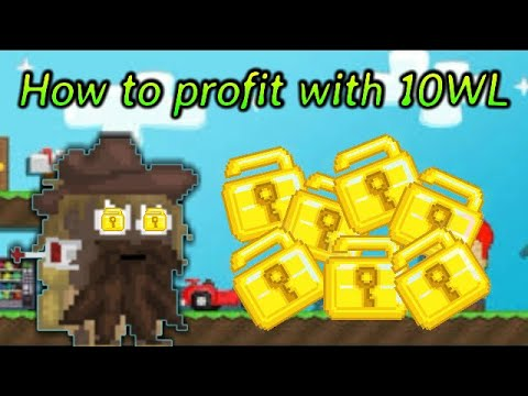How To Get Rich With 10 WLS   Growtopia