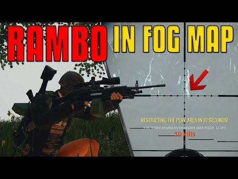 RAMBO in FOG Weather - 2x M249 | PUBG